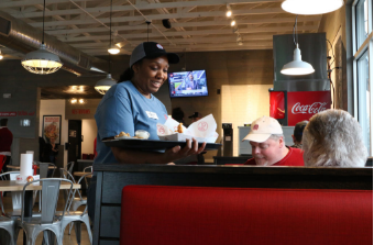 Slim Chickens strives to offer a family friendly community along with their tasty menu options.